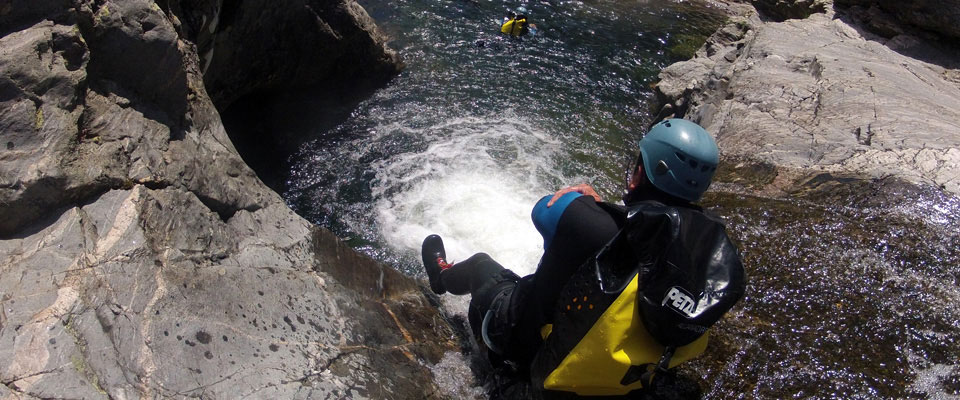 Canyoning dans le Chassezac